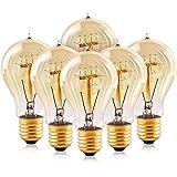 Edison Light Bulbs,HESSION A19 40w Vintage Antique Tungsten Filament Bulbs,E26 Base Edison Bulbs, Decorative Light Bulb…