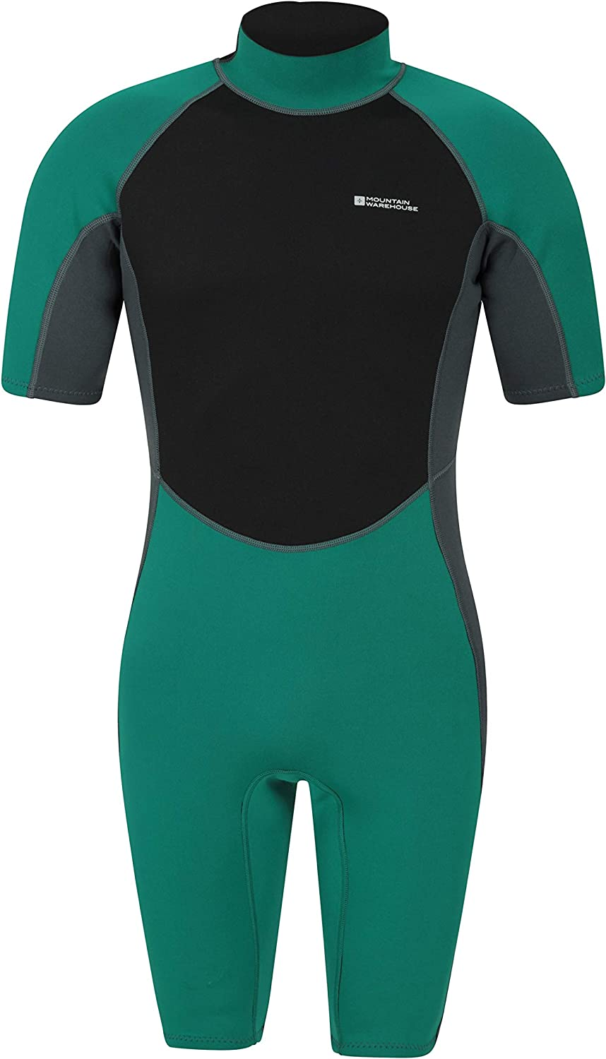 Perfect for Diving Contour Fit One Piece Surf Suit Mountain Warehouse Shorty Mens Wetsuit Easy Glide Zip Neoprene Swimming Wet Suit