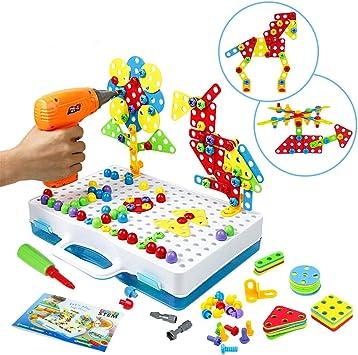 Symiu Mosaique Enfant Puzzle 3d Jeu Construction Jouet Montessori Perceuse Electronique Creatif Jouet A Visser Jeux Educatifs Et Scientifiques Pour Enfants Fille Garcon 3 4 5 Ans Amazon Fr Jeux Et Jouets
