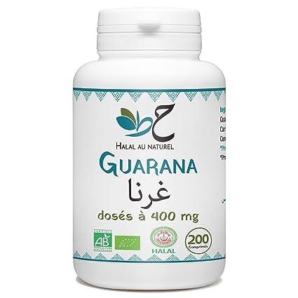 Guarana Bio Halal - 400 mg por comprimido - 200 pastillas ...