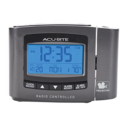 amazon com acurite 13239a1 atomic projection clock with indoor rh amazon com