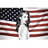 """Amazon Price History for:Lana Del Rey Music Poster / Print 24 X 36"""" American Flag"""