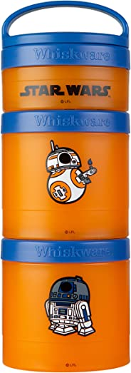Whiskware C03683 Star Wars Stackable Storable Snack Pack, 2 1/3 cups, R2-D2 & BB-8