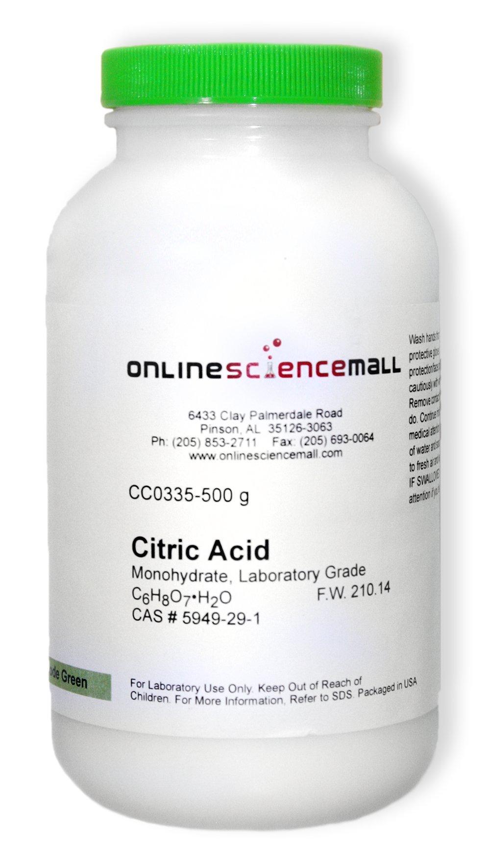 Citric Acid, Monohydrate, 500g - Lab Grade Chemical Reagent