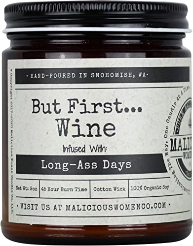Malicious Women Candle Co - But First.Wine