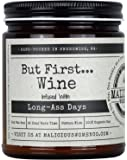 Malicious Women Candle Co - But First.Wine, Cabernet All Day (Sweet Red Wine) Infused with Long-Ass Days, All-Natural…