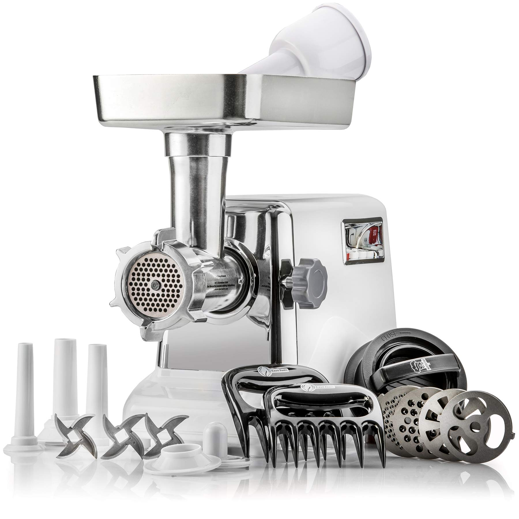 The Powerful STX Turboforce Classic 3000 Series Electric Meat Grinder & Sausage Stuffer: 4 Grinding Plates, 3 - S/S Blades, Sausage Tubes & Kubbe Maker. 2 Free Meat Claws & 3 in 1 Burger-Slider Maker! by STX INTERNATIONAL