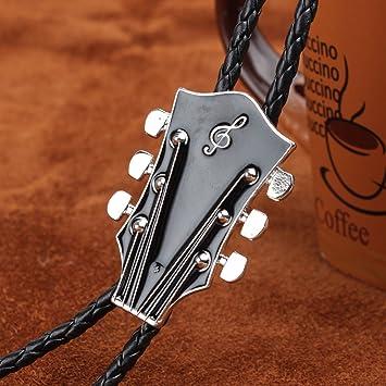 Gazechimp Corbata Bolo Forma Cabeza de Guitarra Bolo Tie Vintage ...