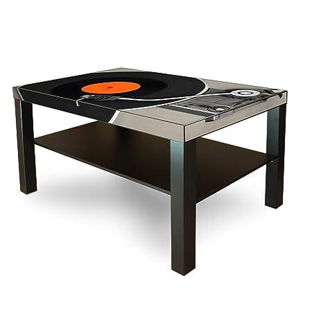 Gran mesa de centro auxiliar con estante con diseño: Tocadiscos ...