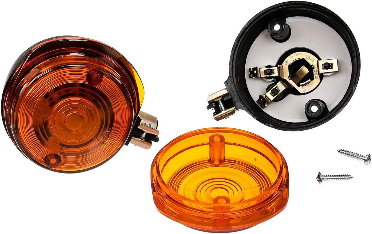 Mza Set 4 Blinker Rund In Schwarz Mit Orangenem Glas Simson S50 S51 S70 Sr50 Sr80 Mz Etz Ts Auto