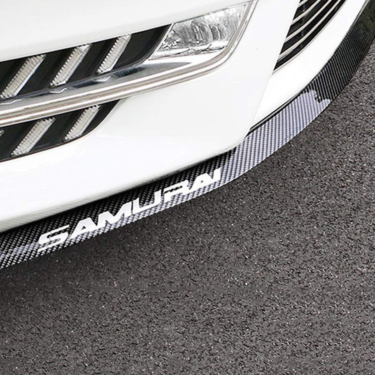 2.5m, Carbon Fiber Black Front Lip Spoiler for Cars Trucks SUV Front Lip /& Side Skirt Protector Bumper Protector Front Bumper Lip to Protect Cars from Collision