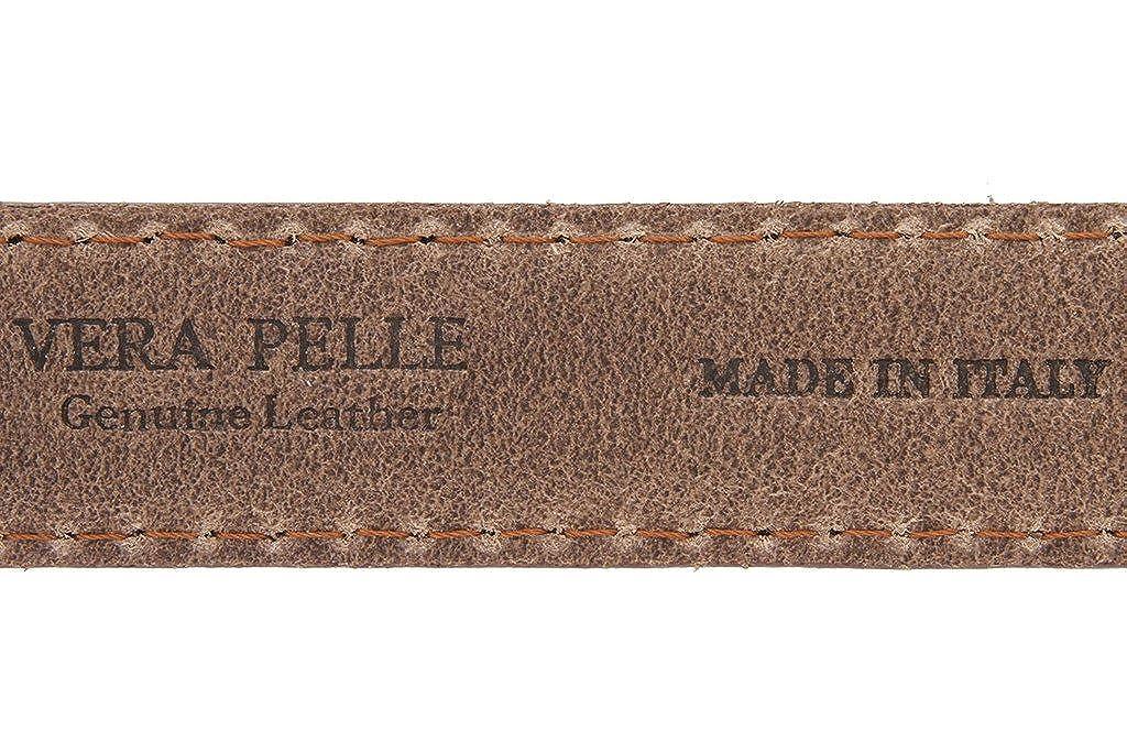 Made in Italy Oil-Tanned Italian Leather Dress Belt For Men