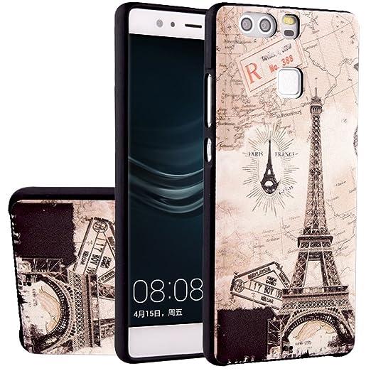 14 opinioni per MOONCASE Huawei P9 Custodia, [Torre Eiffel] Creative 3D morbida TPU Custodia per