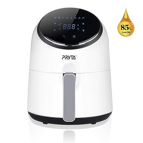 Amazon.com: Freidora de aire, PRYTA Elegante blanco Digital ...