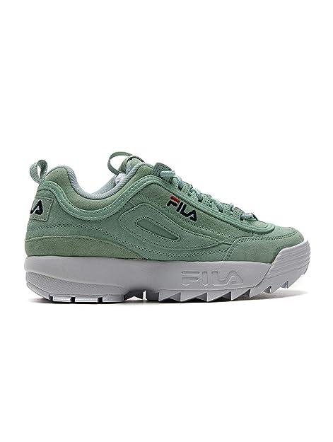 FILA Mujeres Calzado/Zapatillas de Deporte Disruptor S Verde 38.5: Amazon.es: Zapatos y complementos