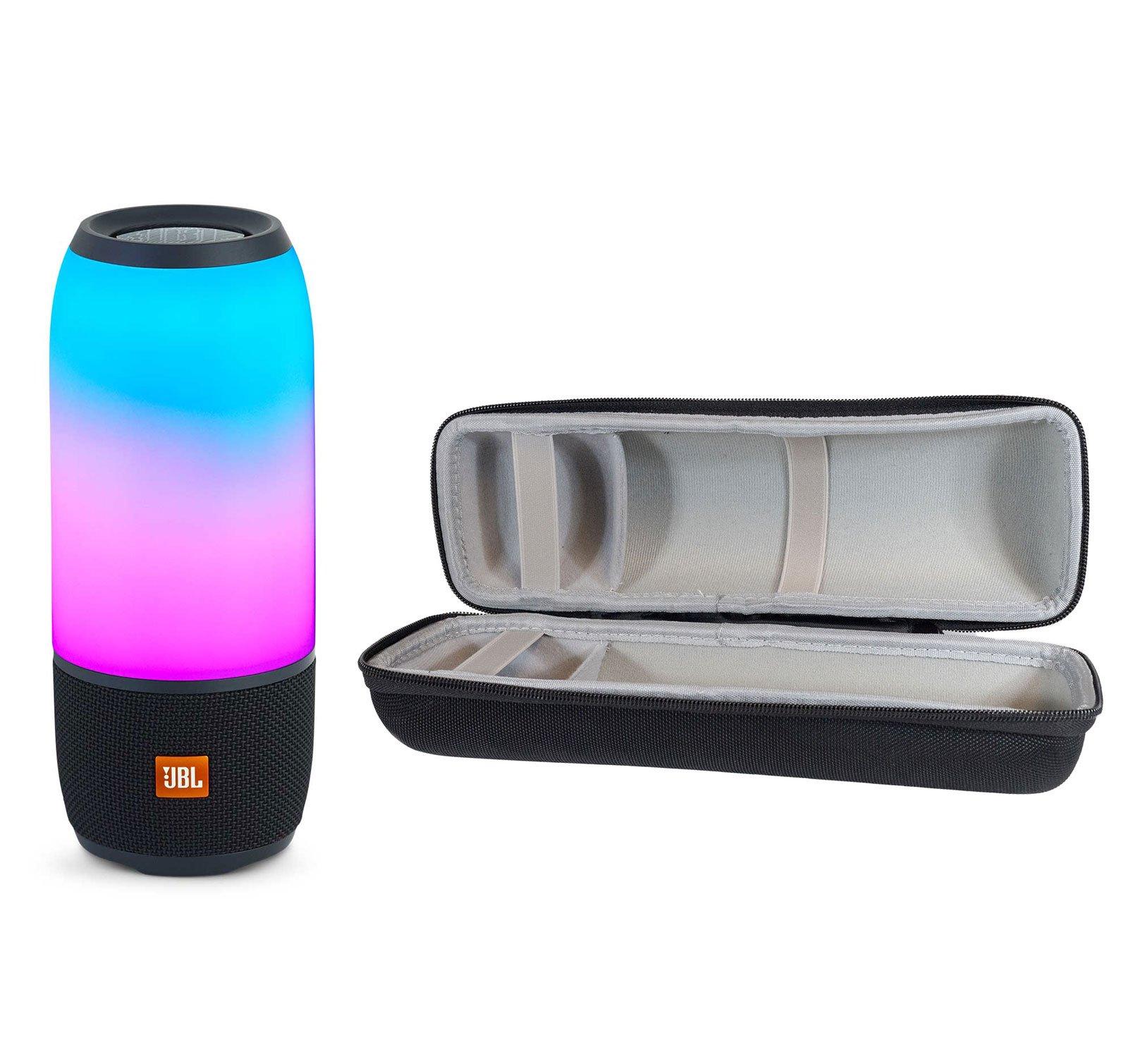 JBL Pulse 3 Wireless Bluetooth IPX7 Waterproof Speaker, Black, with Portable Hardshell Travel Case by JBL