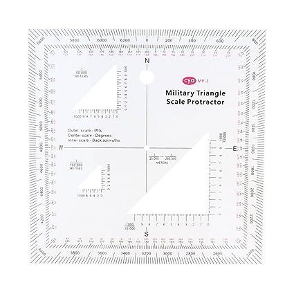 Anbau 5 X5 Coordinate Scale Protractor Grid Reader Gta Topographic