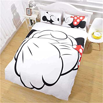 LightInTheBox Novelty Duvet Cover Set Mickey Mouse Bedding Comforter Sets  Bedspreads Sheets Bed Fashion Home Quilt