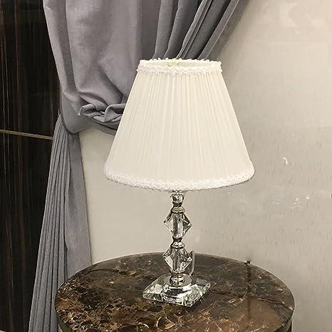SHAOHUAYING Lampada da comodino in cristallo rosa per camera da ...