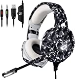 ONIKUMA Gaming Headset PS4 Headset with 7.1
