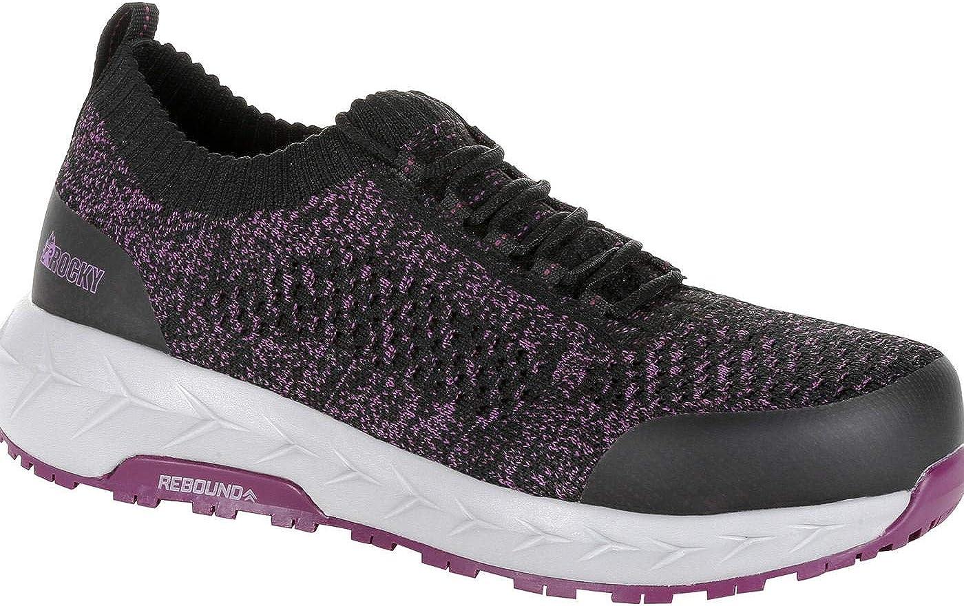 Rocky Women's WorkKnit LX Alloy Toe Athletic Work Shoe Size 10(M)