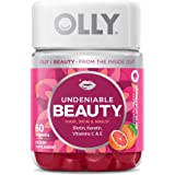 OLLY Undeniable Beauty Gummy, For Hair, Skin, Nails, Biotin, Vitamin C, Keratin, Chewable Supplement, Grapefruit, 30 Day Supp