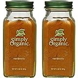 2 Packs of Simply Organic Turmeric Root Ground Certified Organic, 2.38 oz