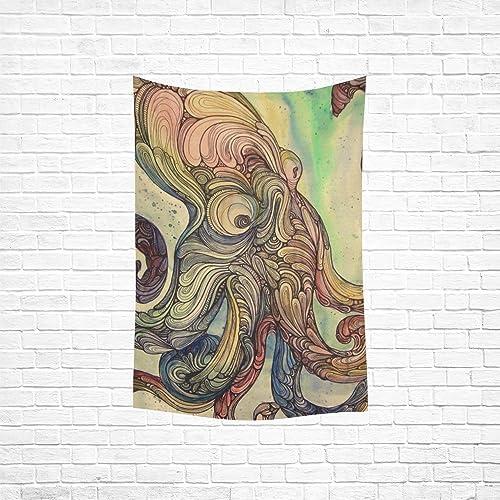 Wall Tapestry Custom Home Decor Wall Art Octopus Cotton Linen Hanging 40 x 60