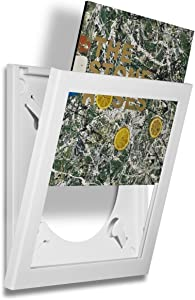 Art Vinyl Play & Display Record Frame (White)