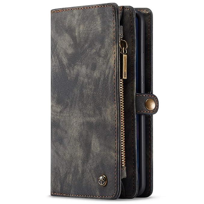 Huawei Mate 20 Pro P20 Pro Lite Funda Folio Monedero Case Cartera Carcasa Multifuncional Hombre Mujer con ranuras para tarjetas Estuche móvil: Amazon.es: ...