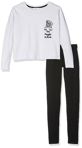 New Look 915 Puggle Is Real, Conjuntos de Pijama para Niñas, Rosa (Light