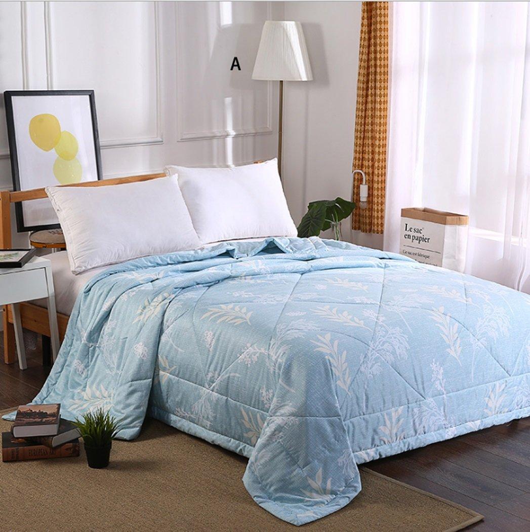 Summer Duvet Light Cool Summer Quilt Modal Summer Blanket Size 150200/200230cm Of Single King Size blue (Color : Blue, Size : 200230cm)