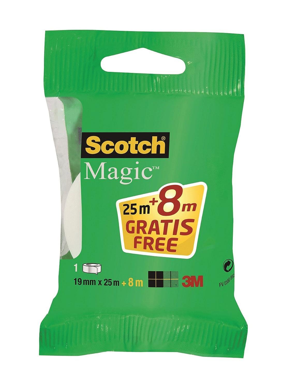 Scotch 8.1925.Rp Nastri Adesivi Scotch Magic, 19 x 33 M 3M 8.1925RP