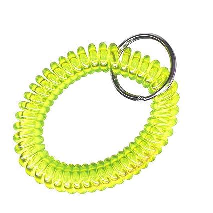 Alfa Llavero Espiral Muelle Extensible Ideal como Pulsera ...