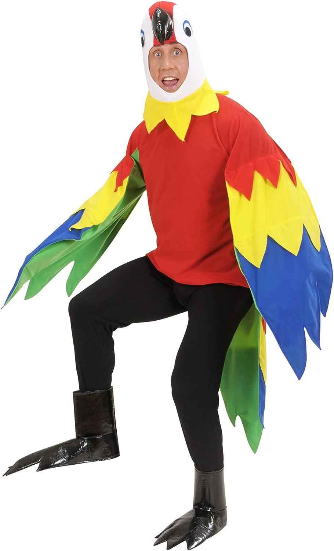 WIDMANN Pappagallo Costume Maschera Zampe Costumi Completo Adulto Party 332