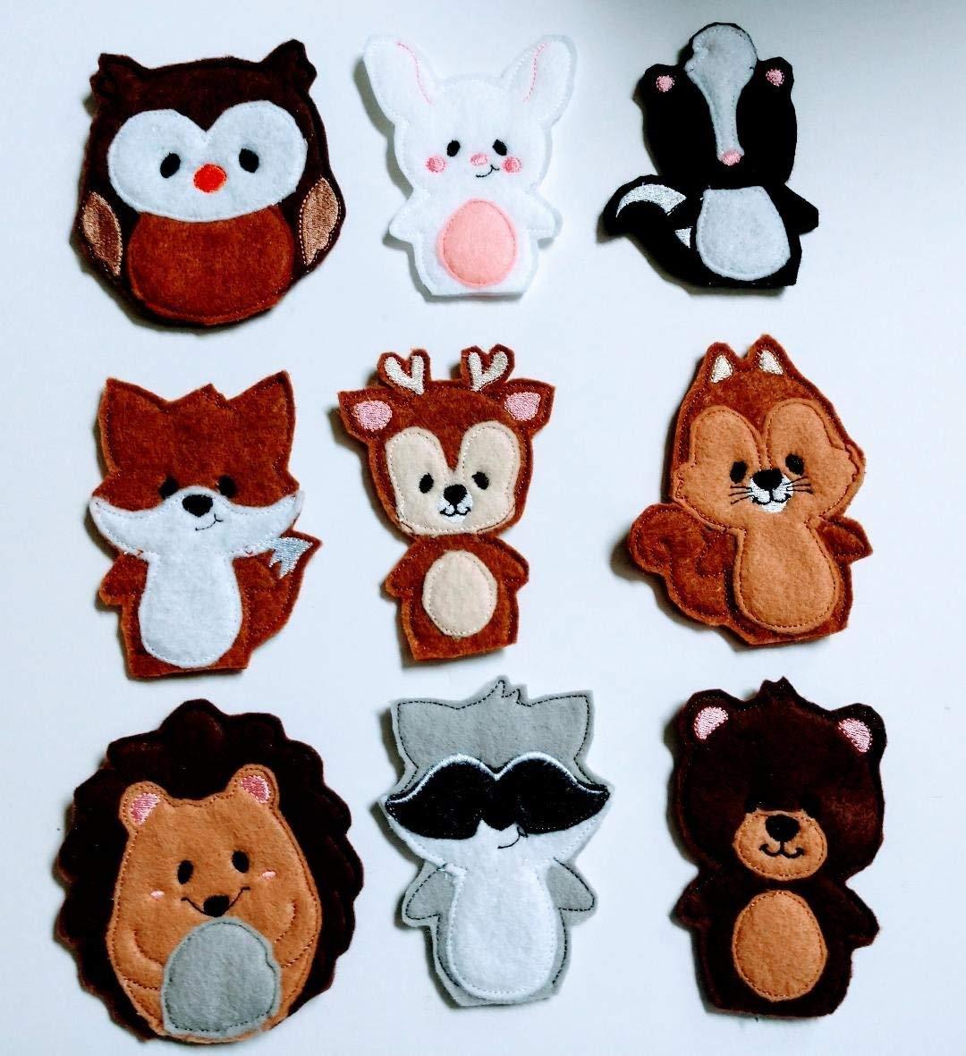 Forest Animals Finger Puppets (9 piece Set)