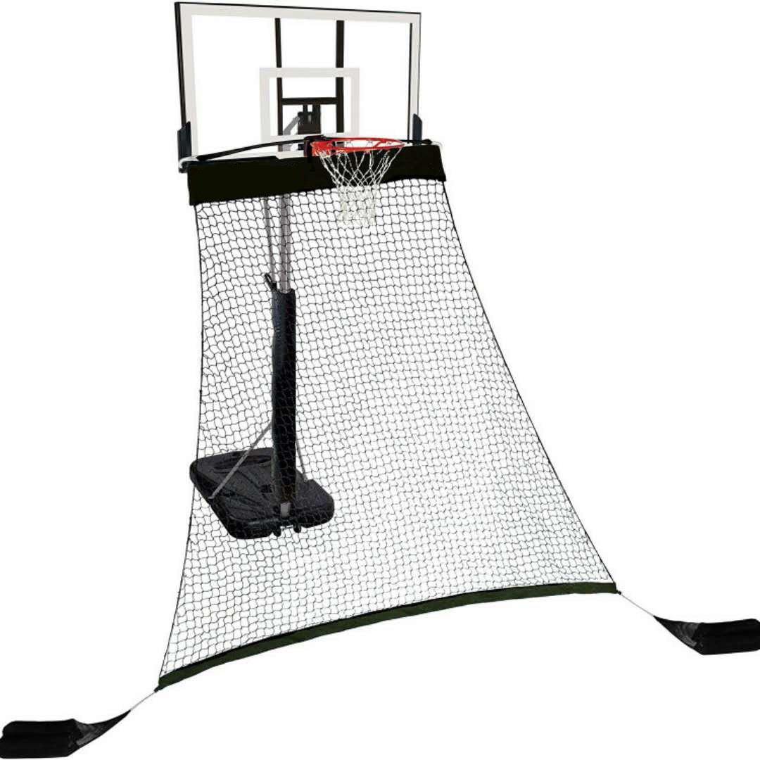 Hathaway Rebounder Basketball Return System with Heavy Duty Polyester Net, Black, 120' L x 60' W x 108' H 120 L x 60 W x 108 H BG3403