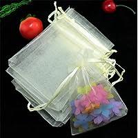 Homieco 100 Pezzi Coulisse Sacchetti regalo in Organza Multicolori Nozze Favore Borse Gioielli per Matrimonio Compleanno Battesimo Comunione Nascita Festa Natale 9 x 12cm