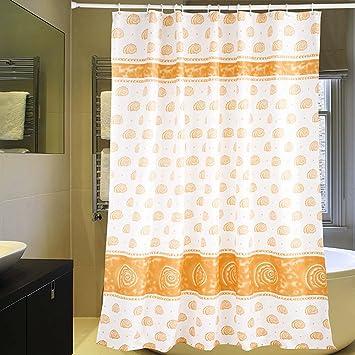 Amazon.com: Riverbyland Shower Curtains Shell Orange 72