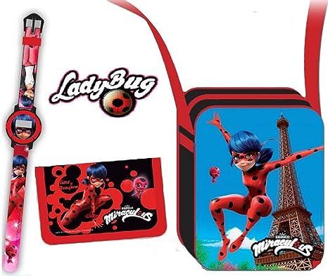 Ladybug Bandolera, Reloj y Billetero Factory 37152