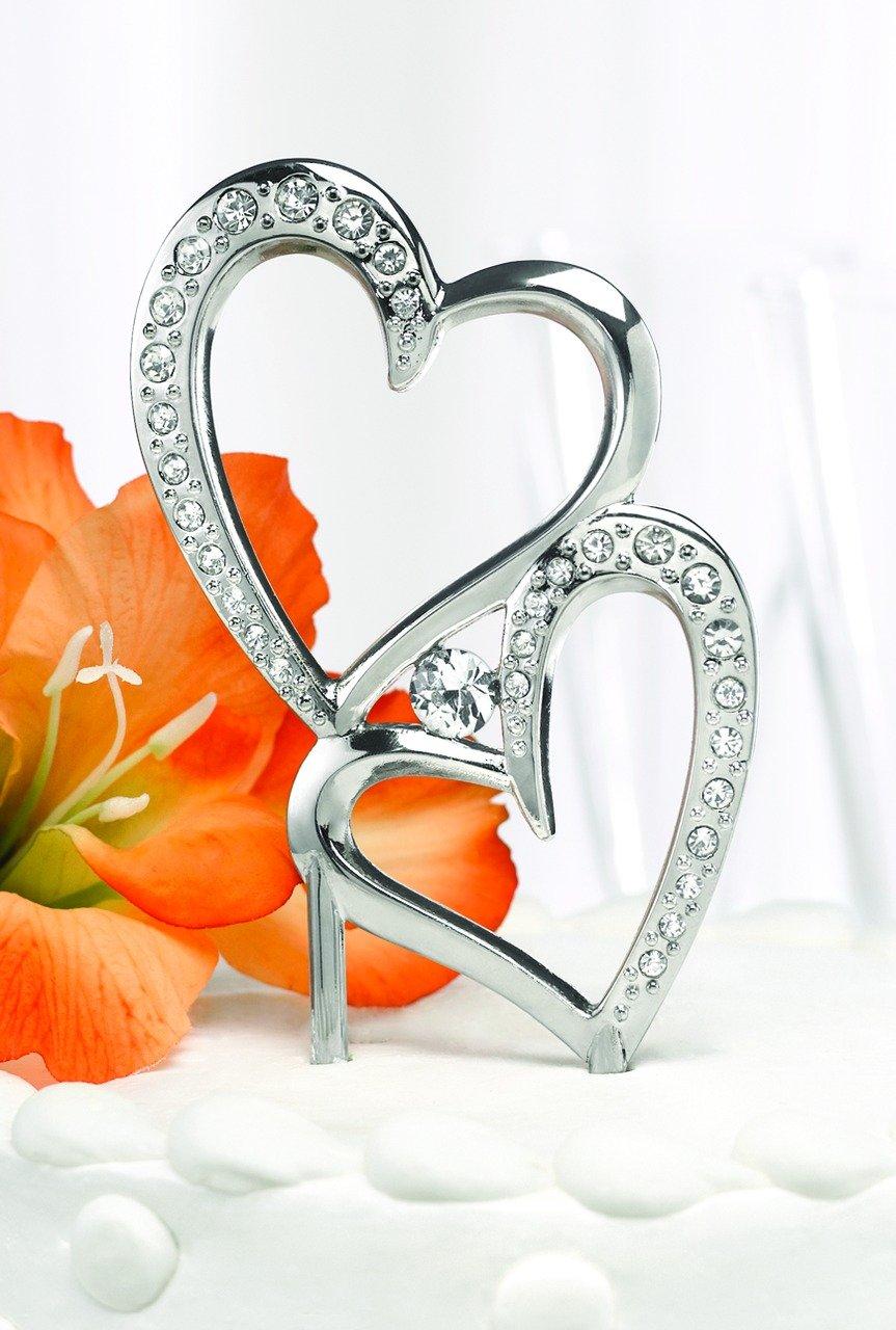Hortense B. Hewitt Wedding Accessories Sparkling Love Cake Pick, 7-Inch Tall