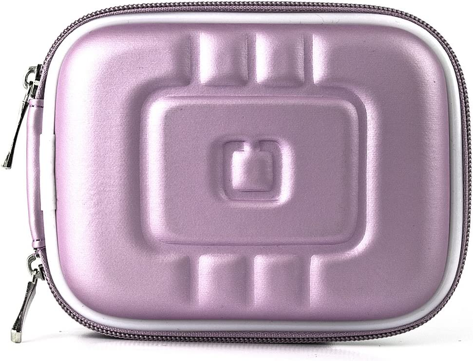 Purple Eva Durable Protective Cover Cube with Mesh Pocket for Canon Power Shot Point and Shoot Digital Camera