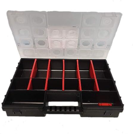 Caja organizadora de herramientas con tornillos, caja organizadora grande para piezas pequeñas, con compartimentos individuales, divisible.: Amazon.es: Bricolaje y herramientas