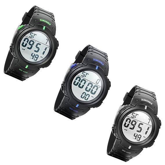Lancardo Reloj Deportivo Impermeable de 50m de Multifunciones Pulsera Digital con Luces Gran Dial Casual para Actividades Deportes Exteriores para Hombre ...