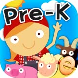 Animal Preschool Learning Games for Kids with Skills on the Farm Free: The Best Pre-K and Kindergarten Counting, Shapes, Colors, Groups, Sequences, Patterns and Math Games for Boys and Girls
