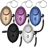 SODIAL Safe Sound Personal Alarm, 5 Pack 140DB Personal Security Alarm Keychain with LED Lights, Emergency Safety Alarm for Women, Men, Children, Elderly