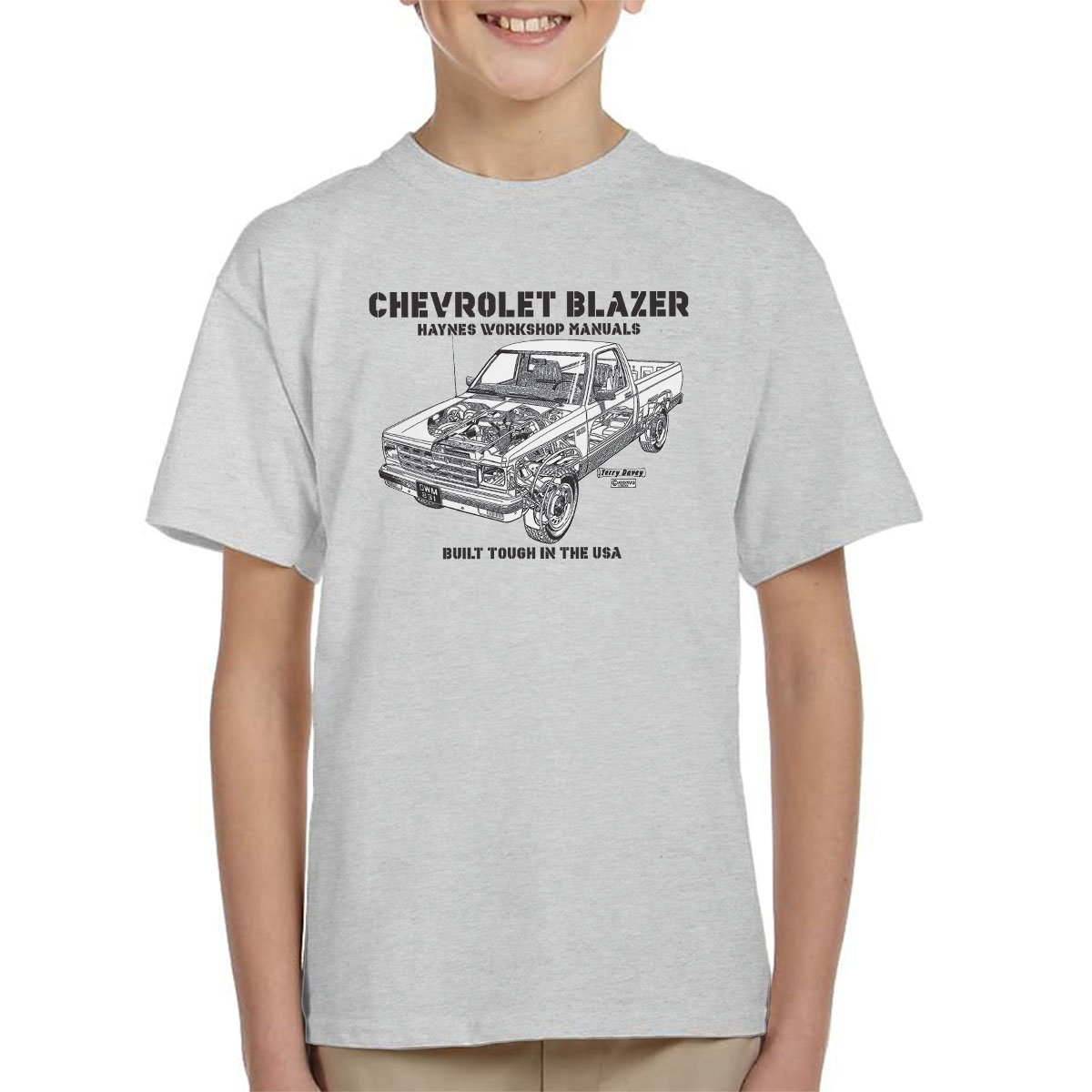 Haynes Owners Workshop Manual Chevrolet Blazer Black Kid's T-Shirt