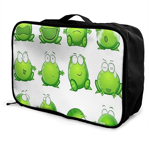 Travel Bags Floating Clovers Portable Foldable Trolley Handle Luggage Bag