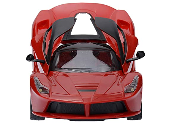 Gooyo Super 1:16 Scale Radio Remote Control High Speed Toy Racing Car with Openable Doors and Rechargeable Batteries (Red) for Boys/Kids