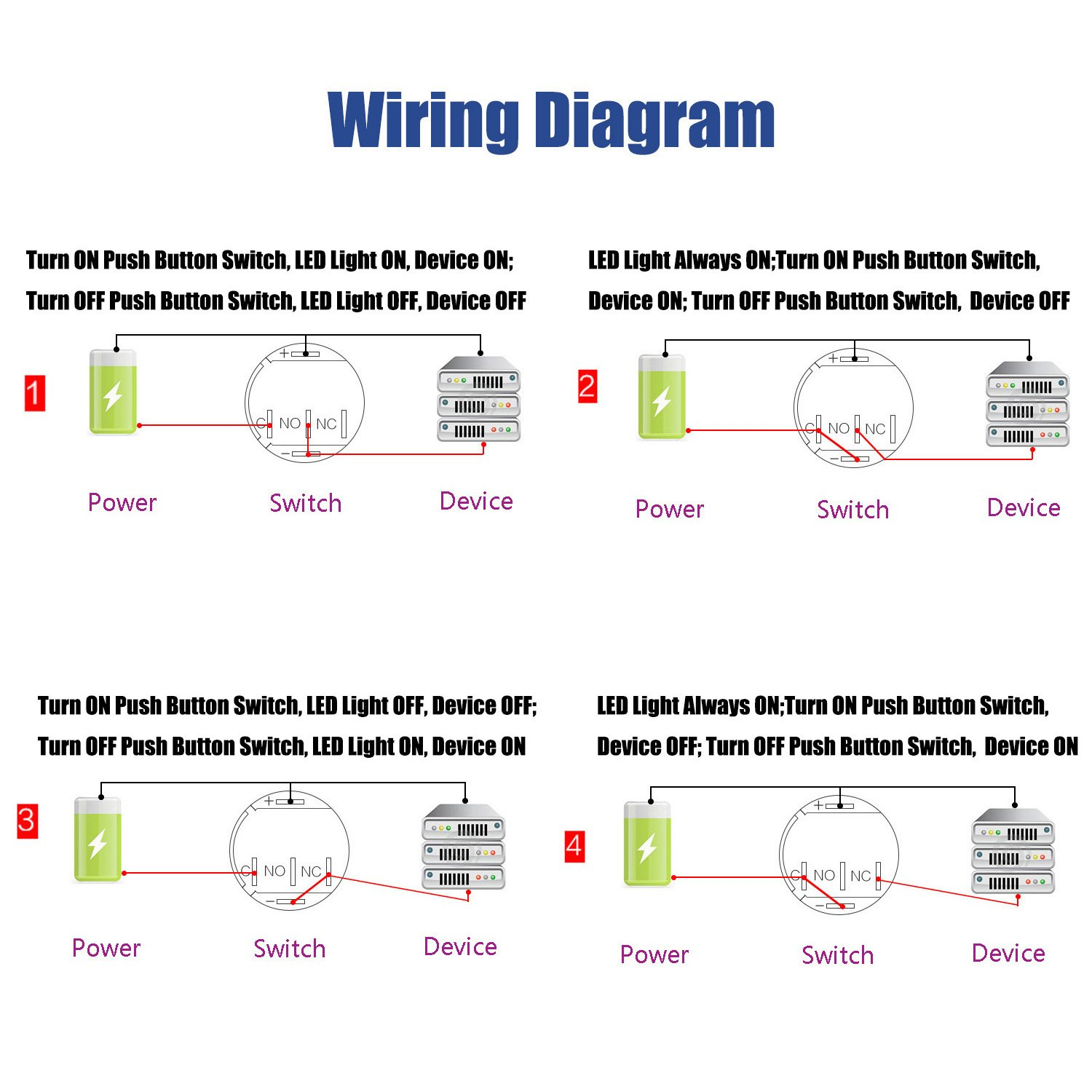 Push Button Switch Wiring Diagram Breadboard Electrical Start Stop First Frc Led Light Ring 39 Horn